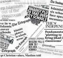 selection of newspaper headlines