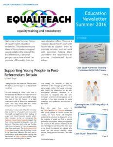 thumbnail of EqualiTeach Newsletter Summer 2016