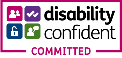 Disability Confident Committed Logo Proud to be a Disability Confident Committed Employer